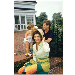 Mark Shaw-JFK, Jackie and Caroline in Hyannis Port-Color #1