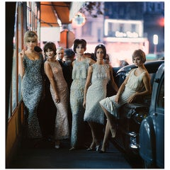 Mark Shaw Editioned Photo-Models in Beaded Gowns-Paris, 1961