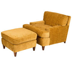 Seniah Club Chair and Ottoman by Billy Haines