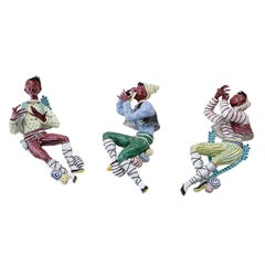 Trio of Ceramic Minstrels by Otello Rosa for San Polo Venezia