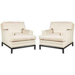 Pair of Loose Cushion Club Chairs by Monteverdi-Young