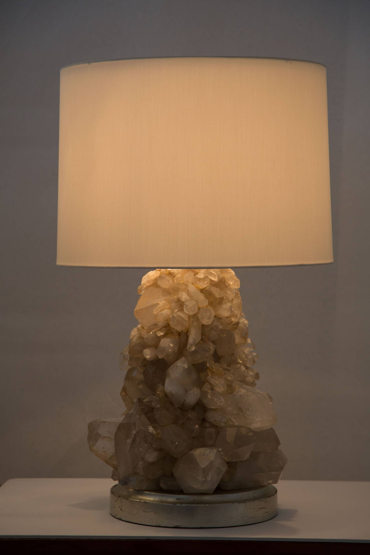 Pair of Unique Rock Crystal Table Lamps 4