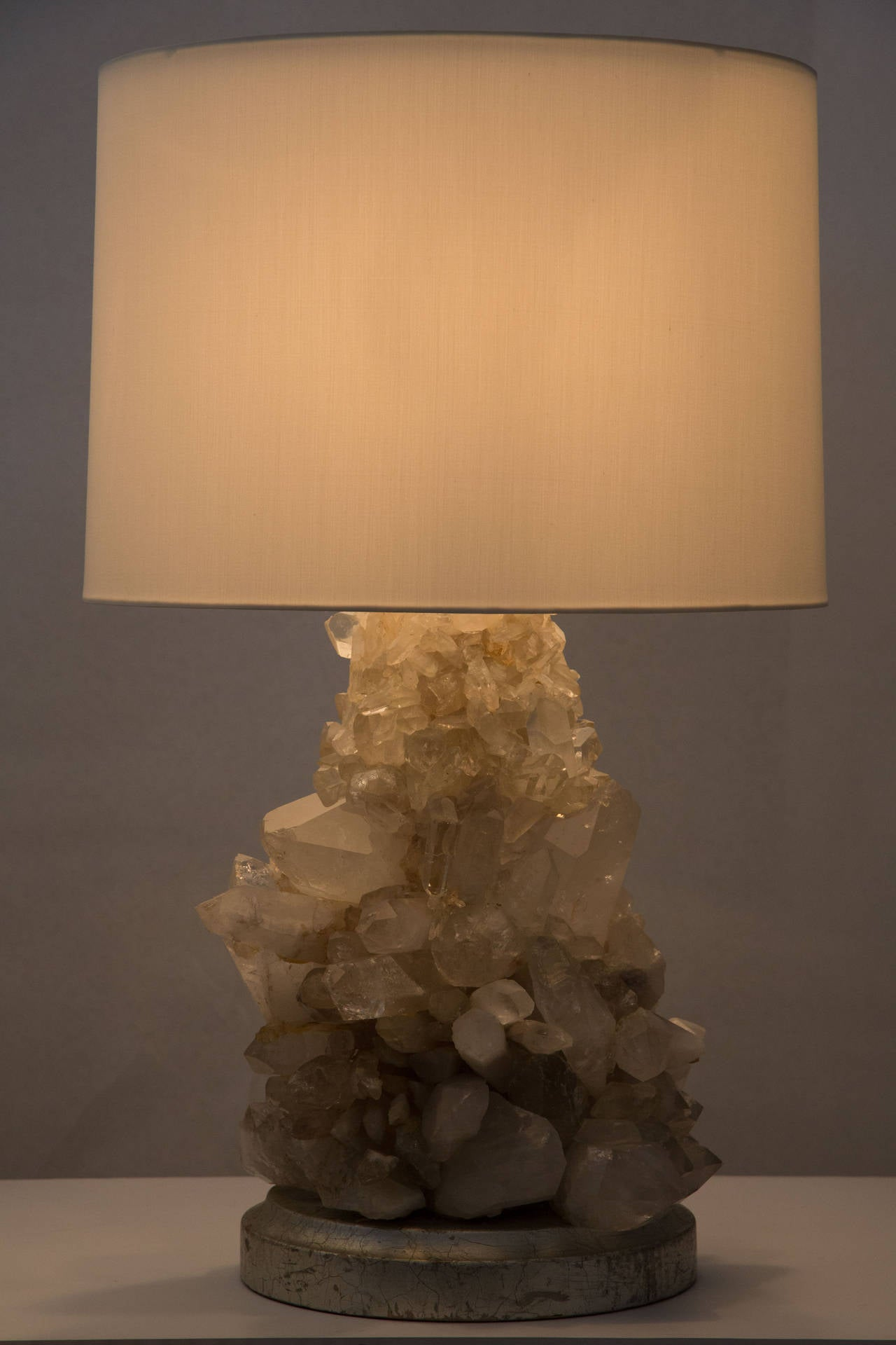 Pair of Unique Rock Crystal Table Lamps 10