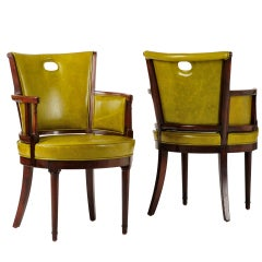 Pair of Armchairs by Samuel Marx