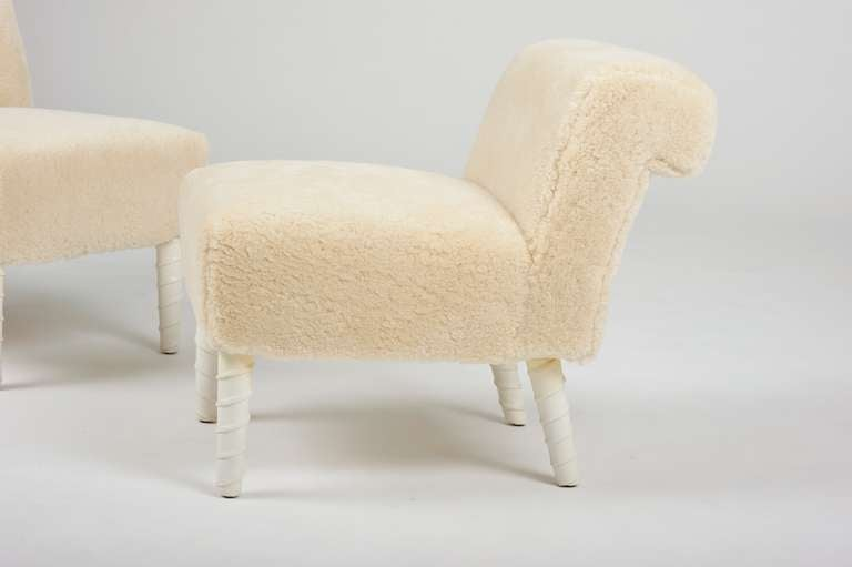 Pair Of Quot Unicorn Quot Leg Elbow Chairs By William Haines At
