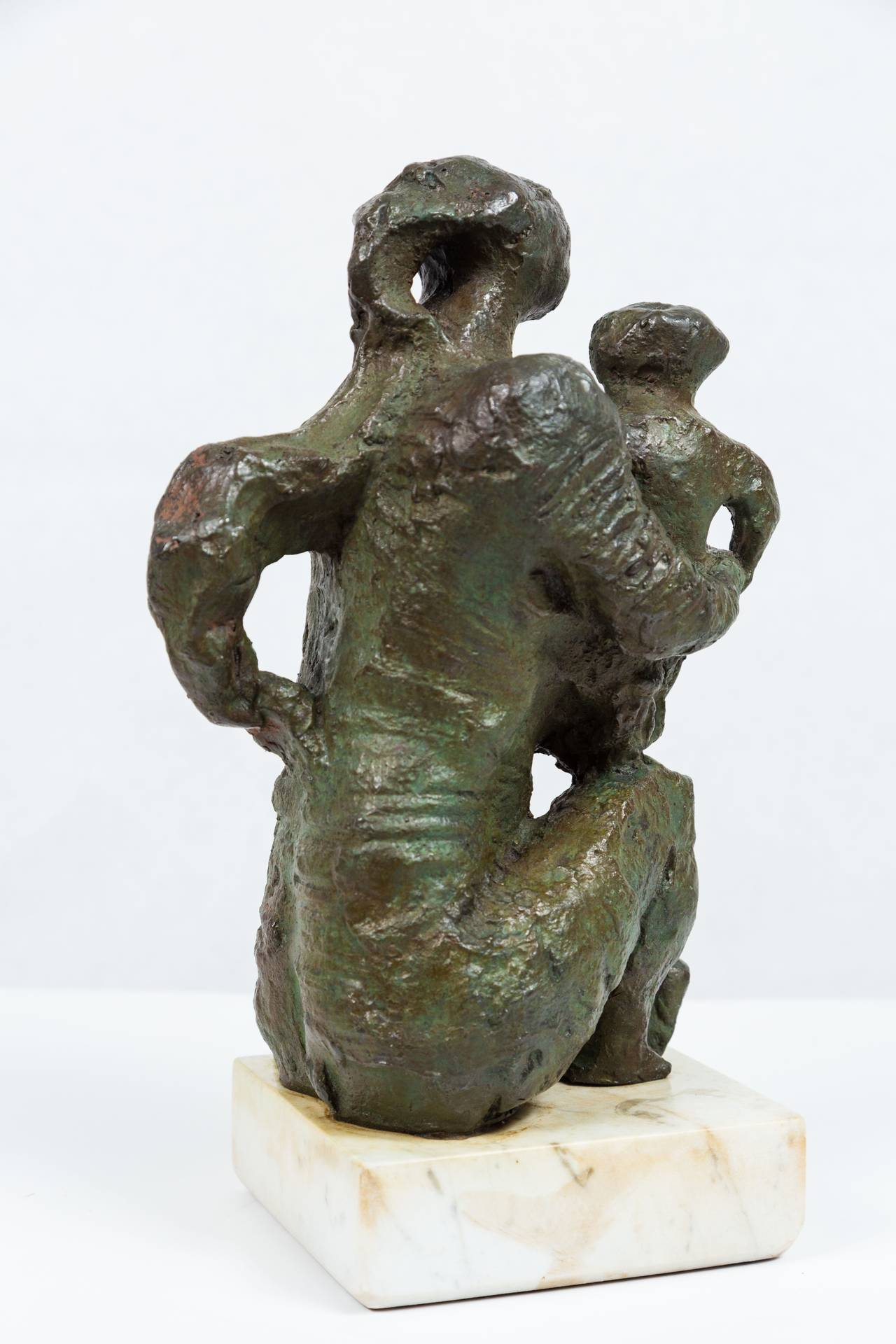 Exceptional bronze sculpture signed