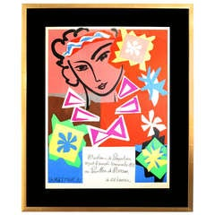 Madame de Pompadour Lithograph after Henri Matisse by Mourlot