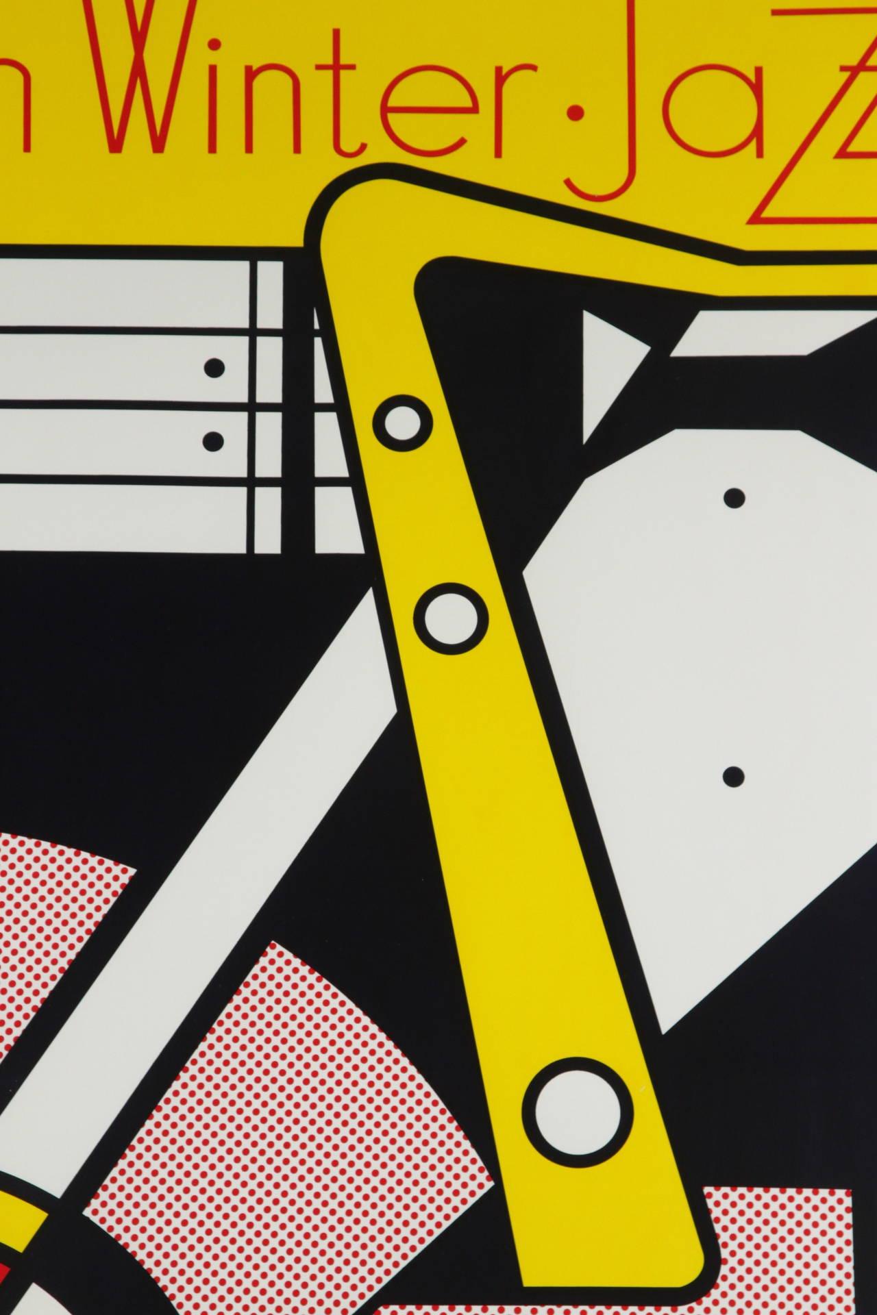 Aspen Winter Jazz Serigraph by Roy Lichtenstein 8