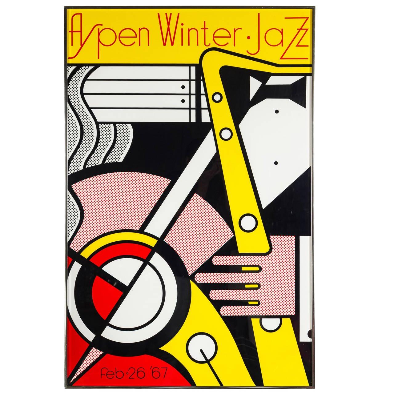 Aspen Winter Jazz Serigraph by Roy Lichtenstein 1