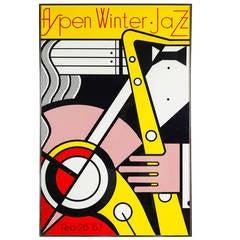 Aspen Winter Jazz Serigraph by Roy Lichtenstein