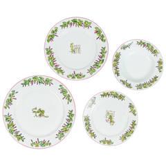 "Set of Limoges Dinnerware ""Le Mas Des Muriers"""