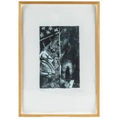 """""""Summer (Blue)"""" Lithograph by Jasper Johns"""