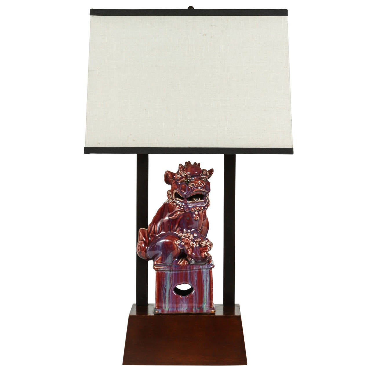 Armature Lamp Featuring A Chinese Foo Dog By William
