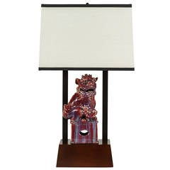 Armature Lamp Featuring a Chinese Foo Dog by William Haines