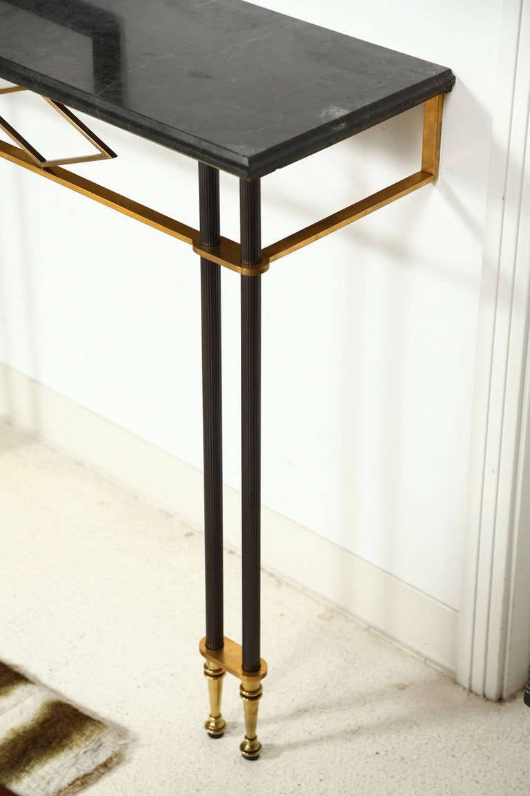 Narrow Wall Mounted Console Table By Jules Leleu At 1stdibs