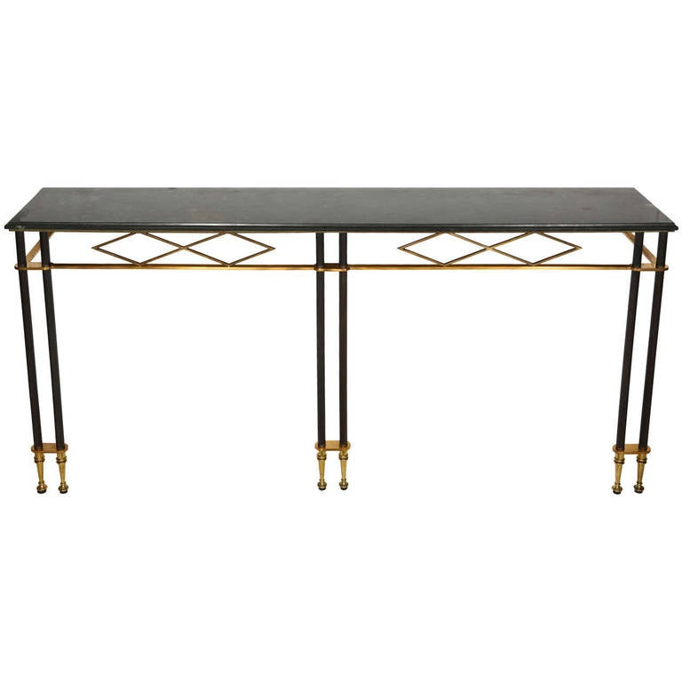 Narrow Console Table : Narrow Wall Mounted Console Table by Jules Leleu at 1stdibs
