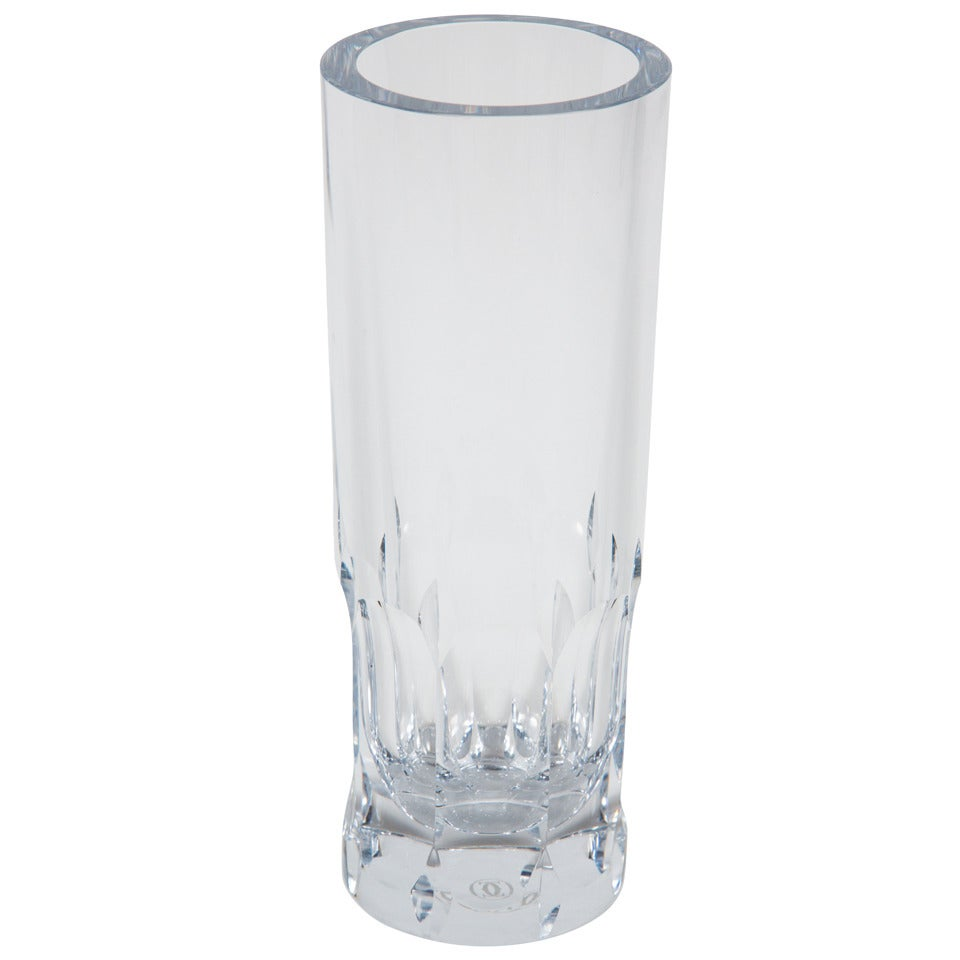 Tall cut crystal vase by cartier at 1stdibs tall cut crystal vase by cartier for sale reviewsmspy