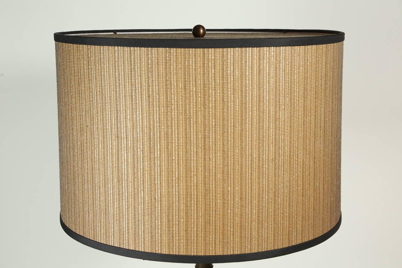 Neoclassical Cast Bronze Bacchus Floor Lamp For Sale 2