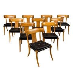 "Set of Ten Klismos ""Athens"" Chairs by Stewart MacDougall for Glenn of California"