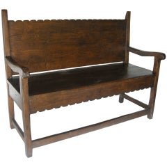 Scalloped Bench