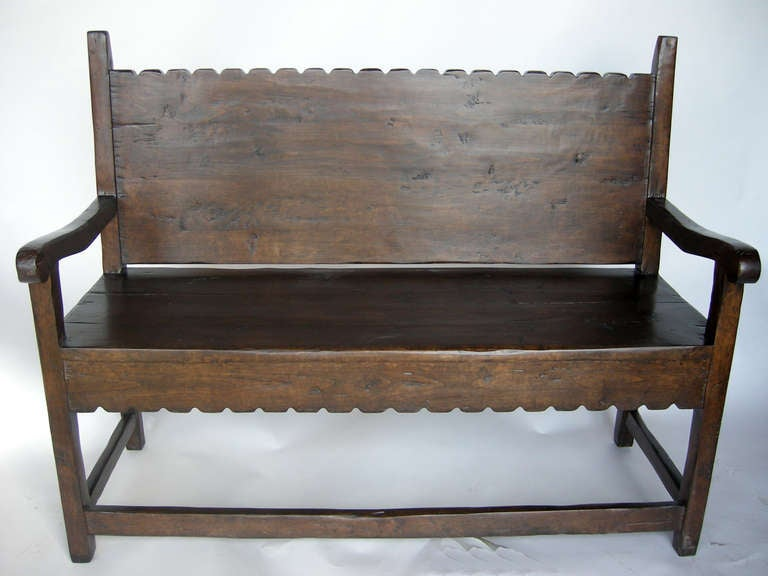 Scalloped Bench For Sale At 1stdibs
