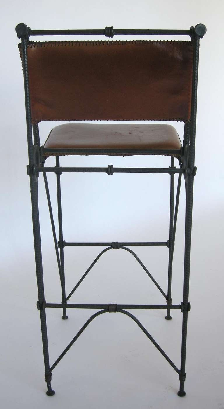 20th century set of five illana goor iron bar stools for sale