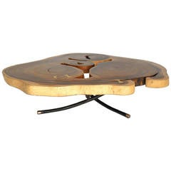 Bronze Inlay Freeform Coffee Table