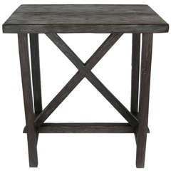Reclaimed Wood X Side Table by Dos Gallos Studio