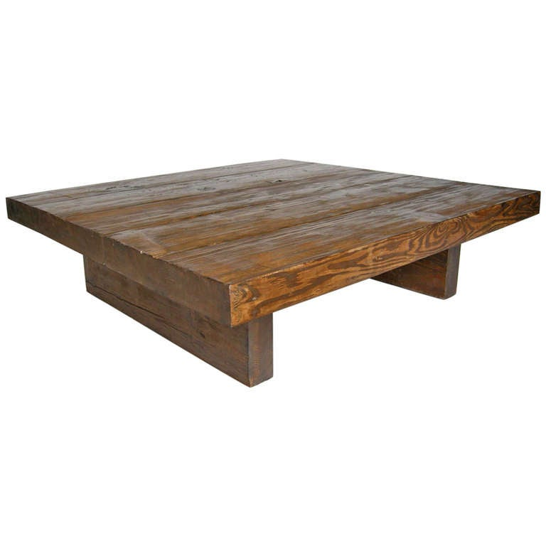 Reclaimed wood coffee table at 1stdibs One of a kind coffee tables