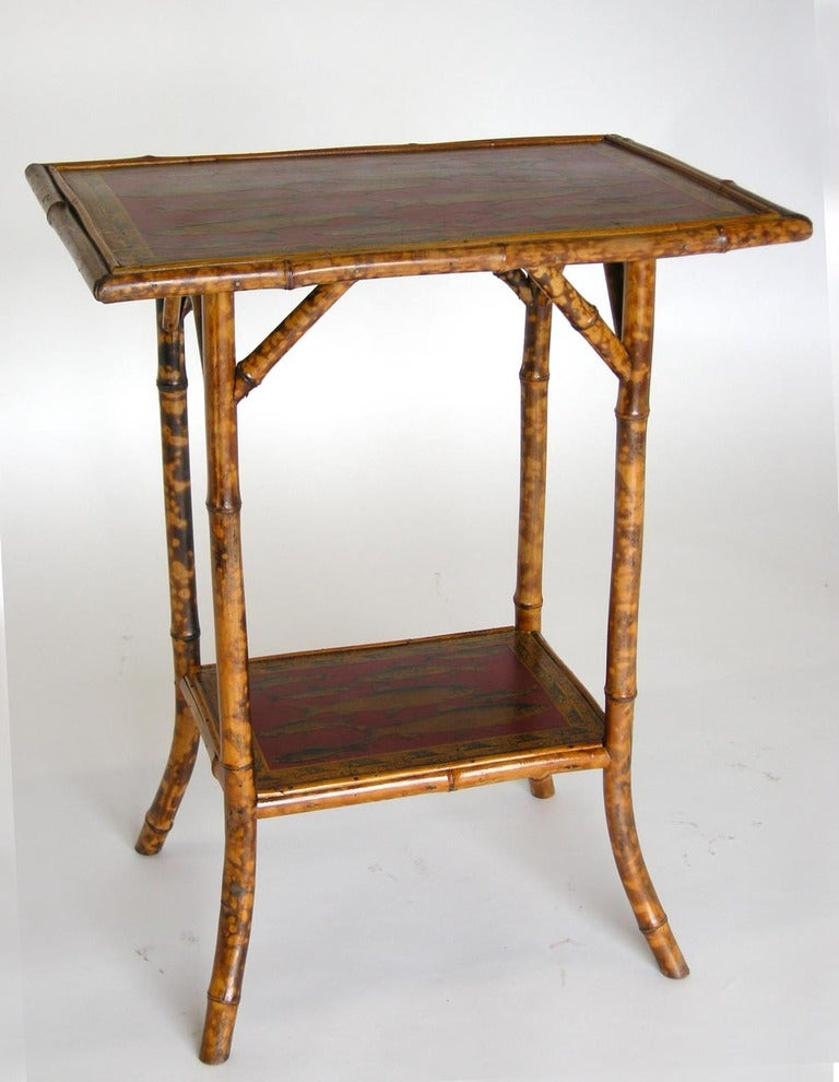 red bamboo side table at 1stdibs