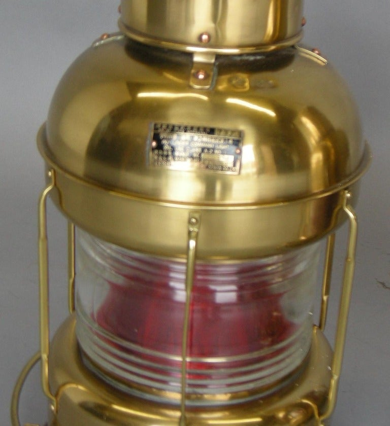 Vintage Japanese Nautical Lamps In Excellent Condition For Sale In Los Angeles, CA