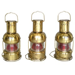 Vintage Japanese Nautical Lamps