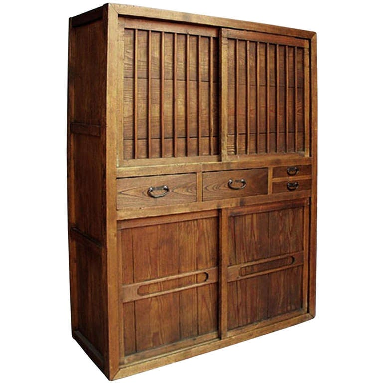 Japanese Kitchen Cabinets: Japanese Mizuya Cabinet At 1stdibs