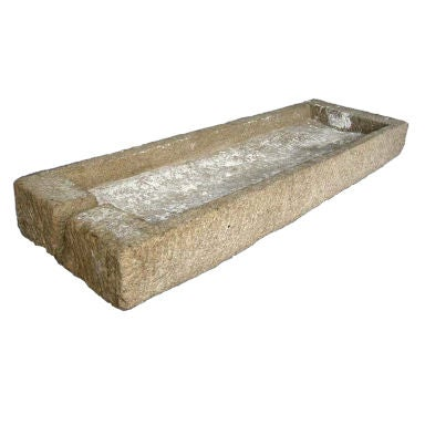 Outdoor Trough Sink : Antique Japanese Stone Trough at 1stdibs