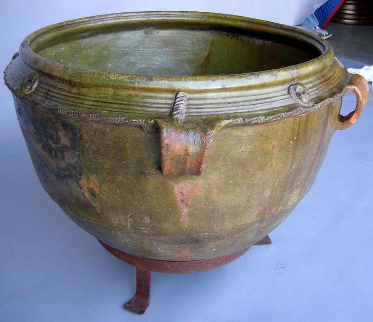 Rustic 19th Century Ceramic Pot For Sale