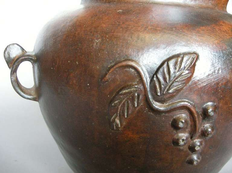 Guatemalan 19th Century Ceramic Pot For Sale