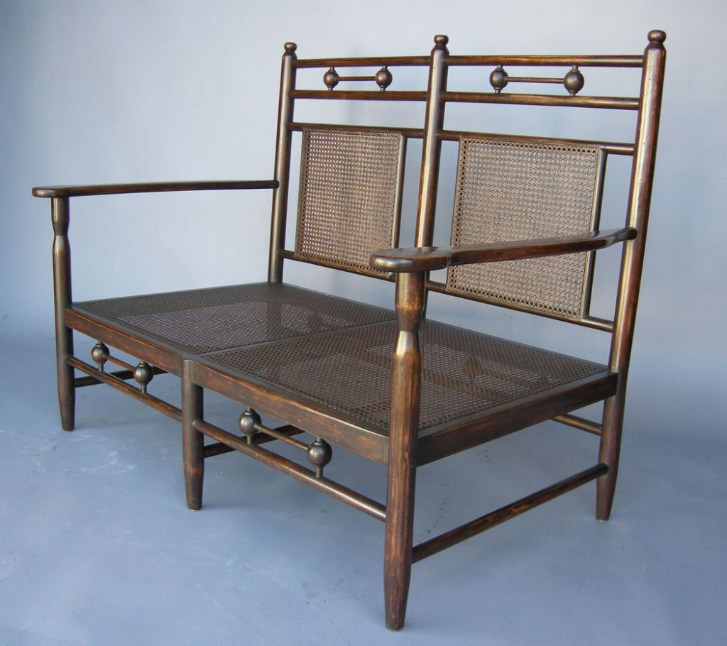 Caned Bench At 1stdibs