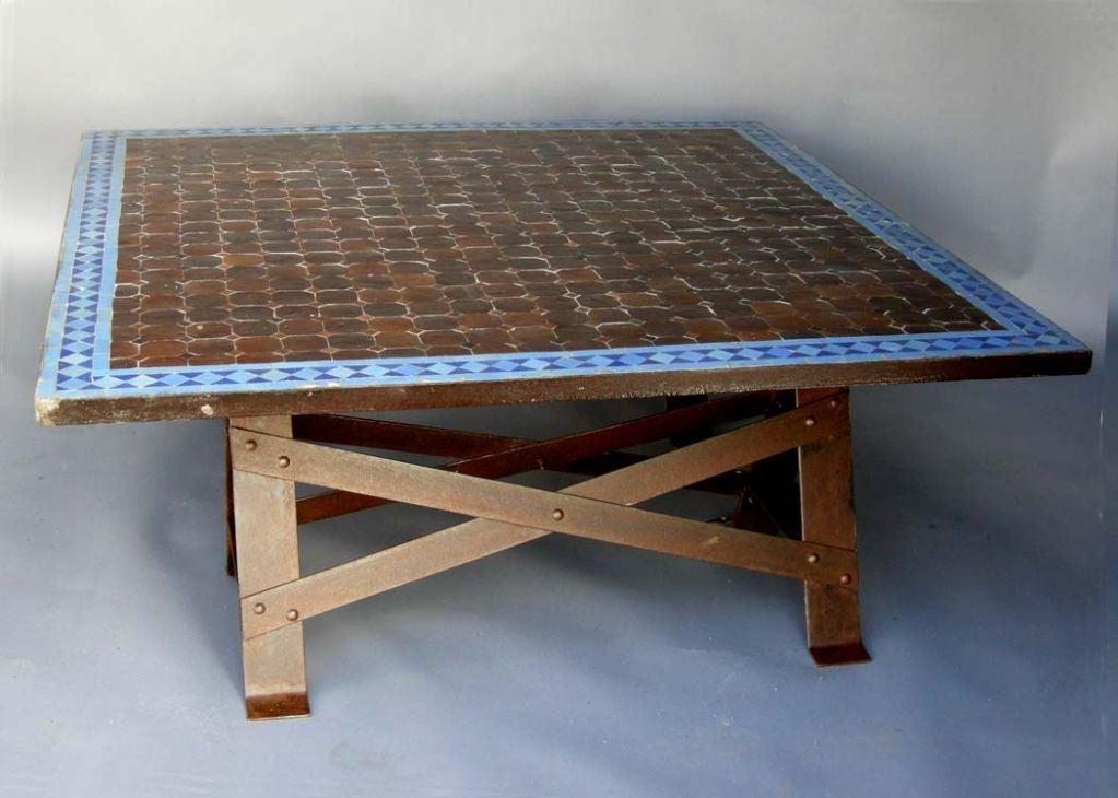 moroccan tile top coffee table at 1stdibs