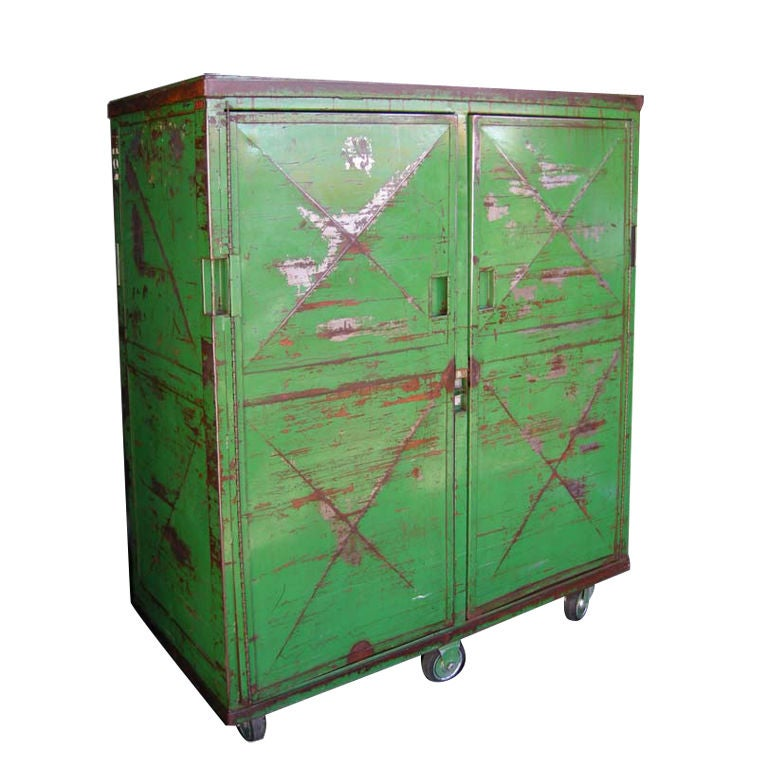 Bank Lockers Los Angeles: Vintage Metal Locker At 1stdibs