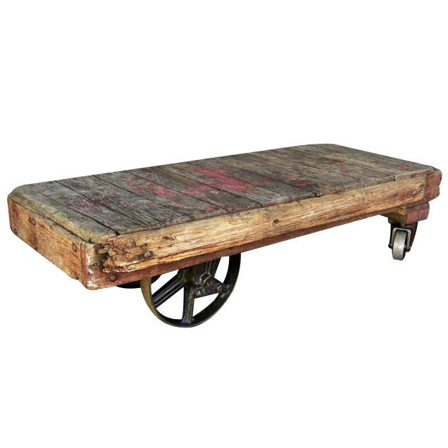 Industrial Cart Coffee Table At 1stdibs
