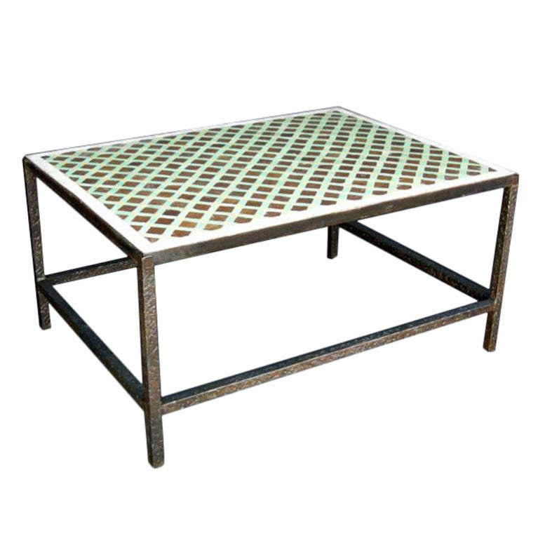 Moroccan Tile Top Coffee Table At 1stdibs