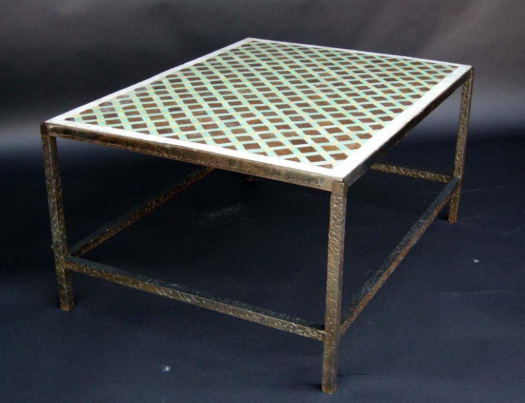 Moroccan Tile Top Coffee Table 3