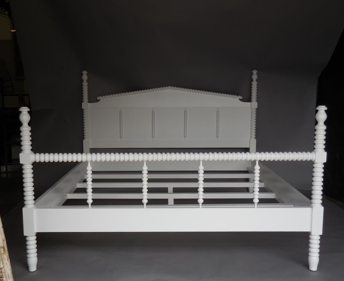 Dos gallos custom painted wood king size bobbin bed with Types of king beds