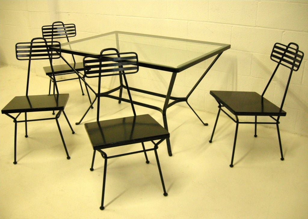 Mid 20th century garden table and chairs for sale at 1stdibs for Mid 20th century furniture