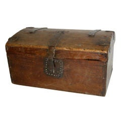 Early 19th Century Spanish Colonial Wooden Dome Top Chest