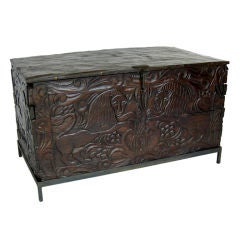 19th Century Carved Grain Chest