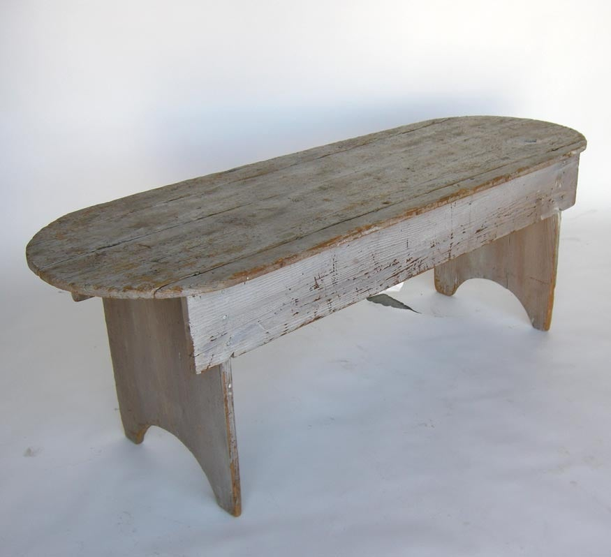 Weathered Pine Bench Low Table At 1stdibs