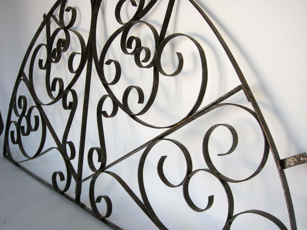 Spanish Colonial Large Scale  Decorative Iron Architectural Arch For Sale