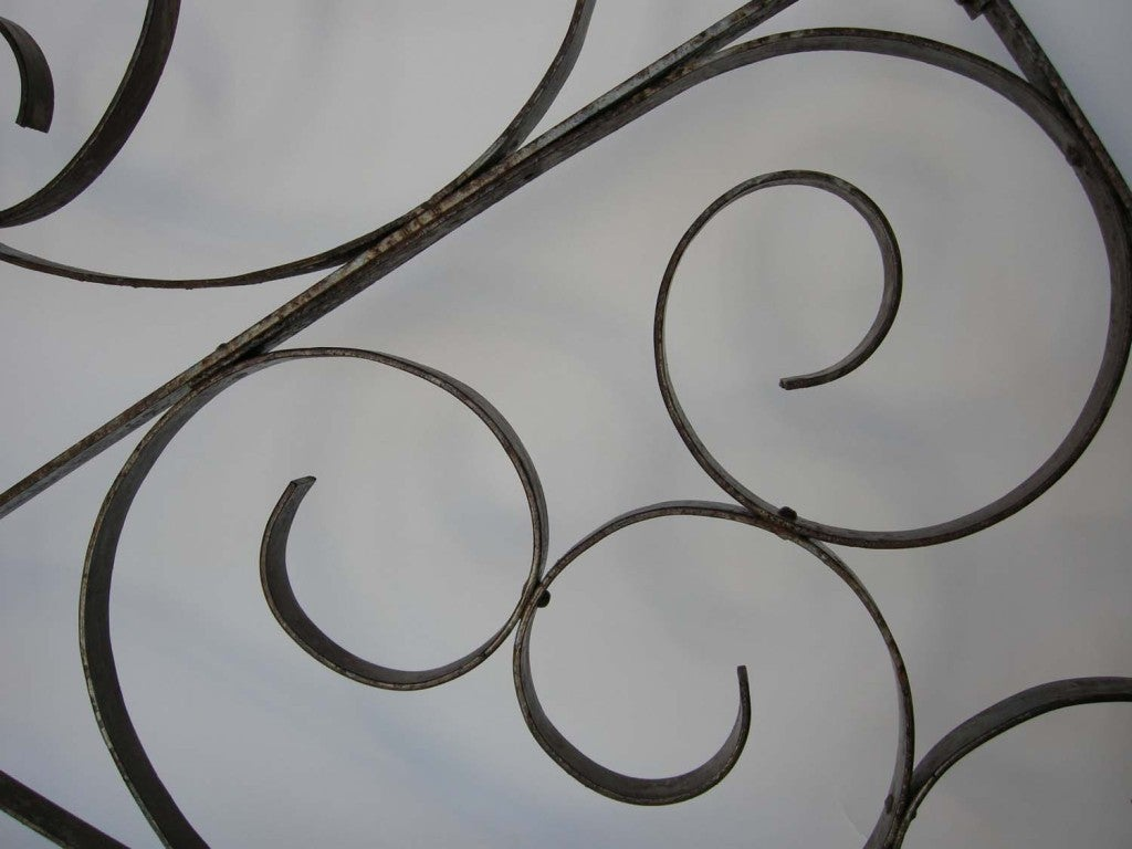19th Century Large Scale  Decorative Iron Architectural Arch For Sale