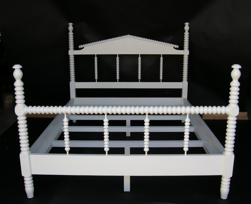 custom painted bobbin spindle bed 2 - Spindle Bed